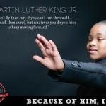 Anuncio que utiliza una frase pronunciada por MLK.